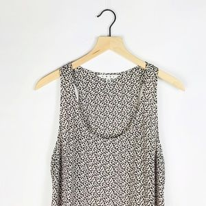 cabi easy tank top in leopard print